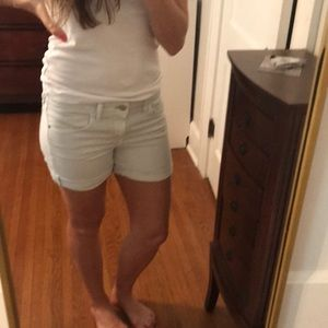 Pilcro and letter press anthropologie Jean Shorts